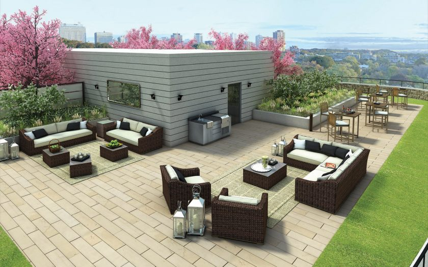 The Davies rooftop lounge