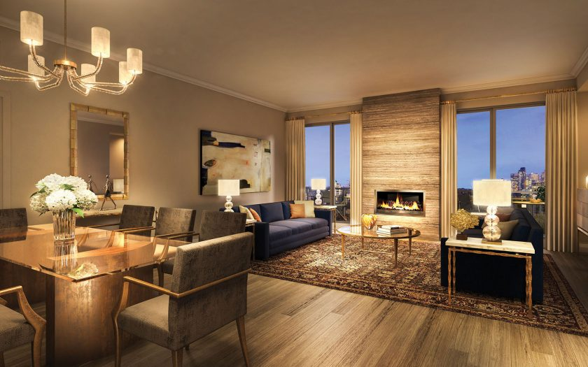 Stunning living spaces with gas fireplaces