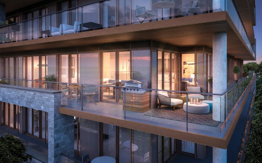 All of The Davies balconies offer gas BBQ hookups