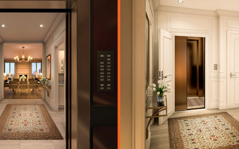 Step out of your private elevator to your new home