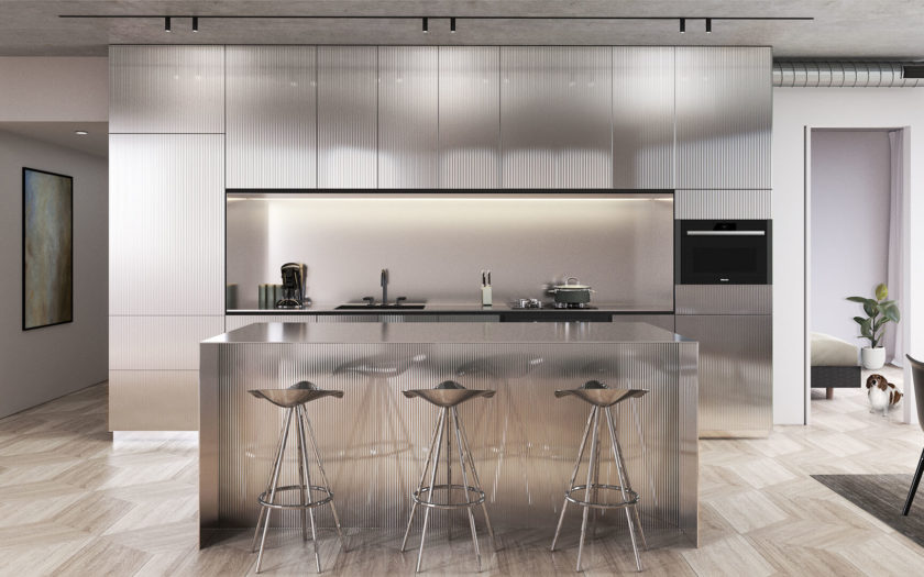 Glass Kitchen - Stainless