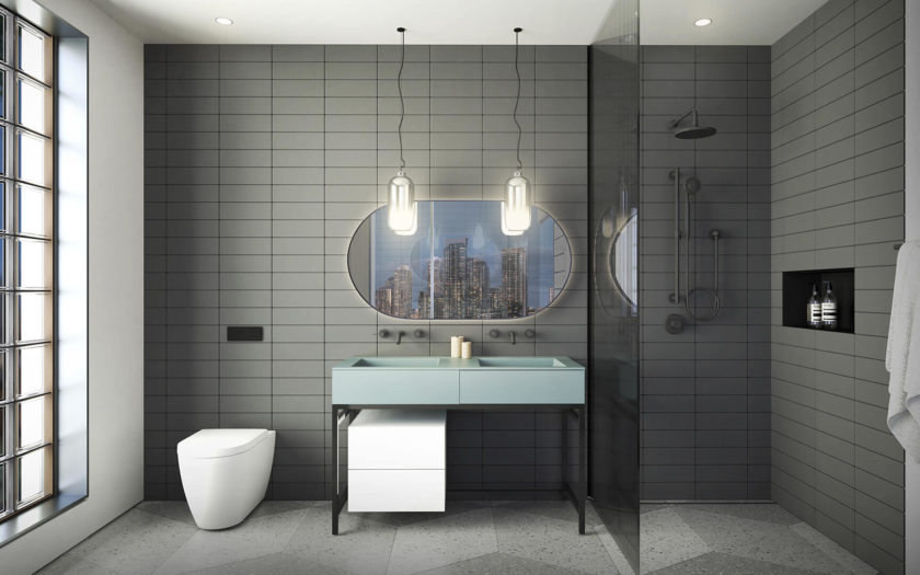 Penthouse Bathroom Dark