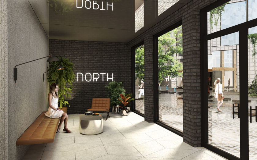 View inside the North welcoming Lobby