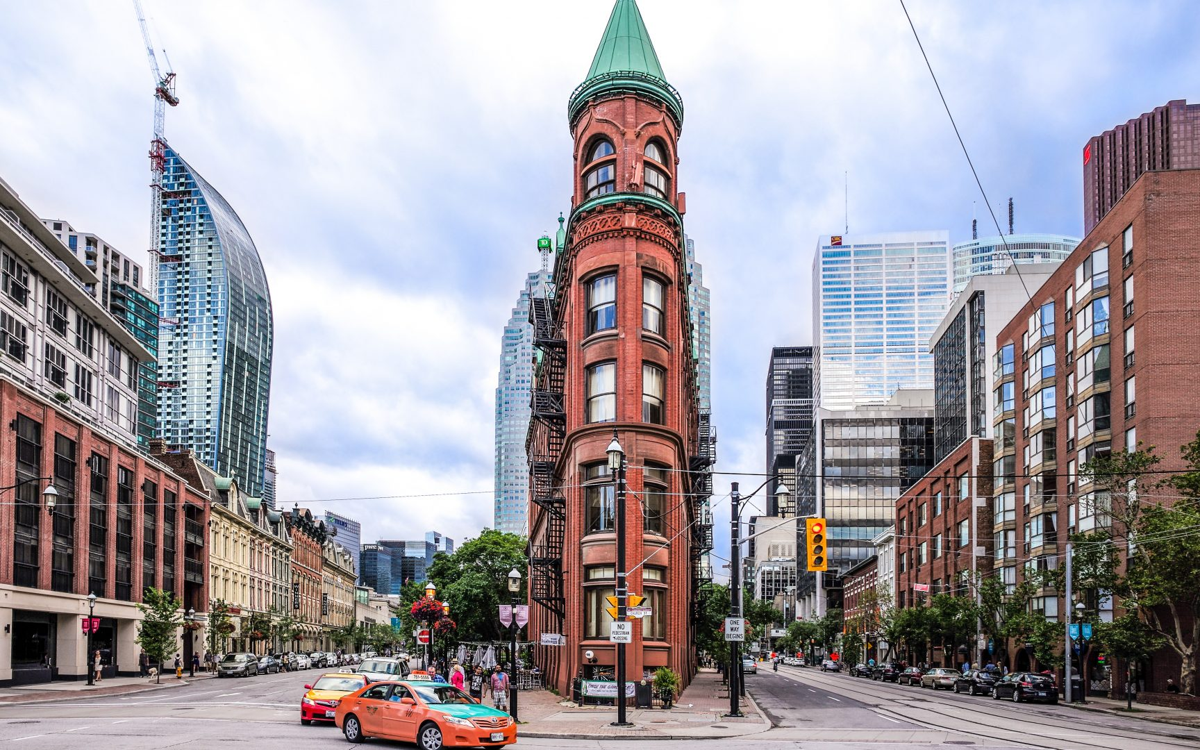 The Gooderham Building, also known as the Flatiron Building, is an historic office building at 49 Wellington Street East. Photo by Shane Carslake for SHANE.