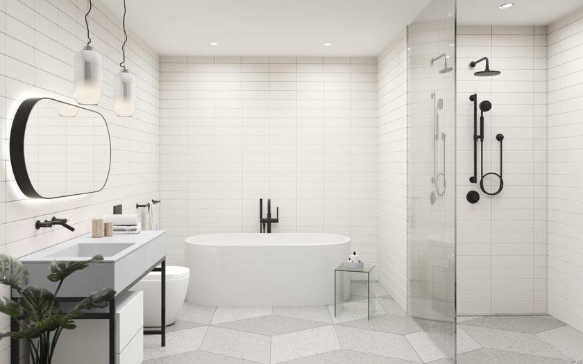 Light Bathroom - Grey