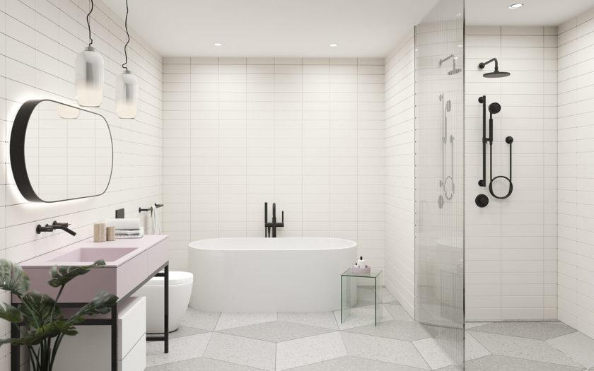 Light Bathroom - Blush