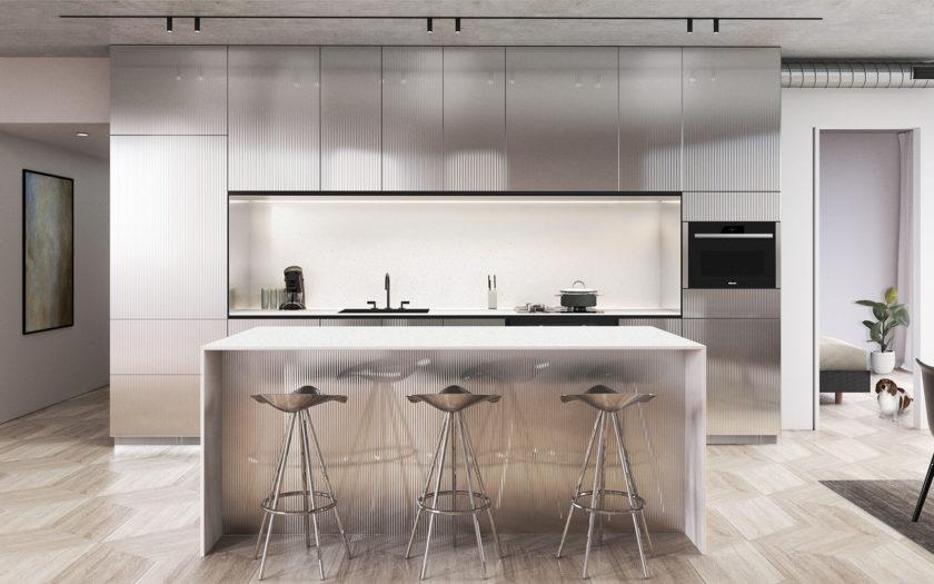 Glass Kitchen - White