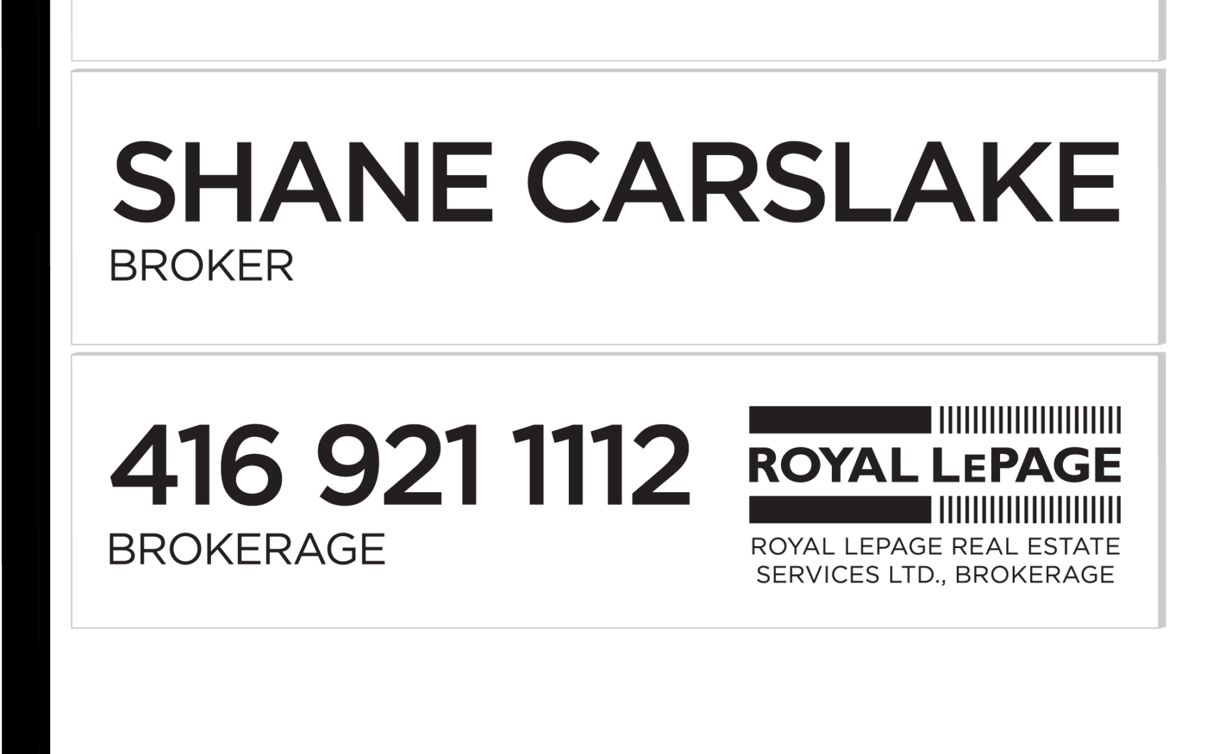 SHANE Sign Leased