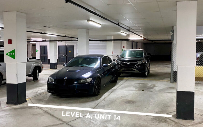 Level A, Unit 14 - Double Width Parking Spot